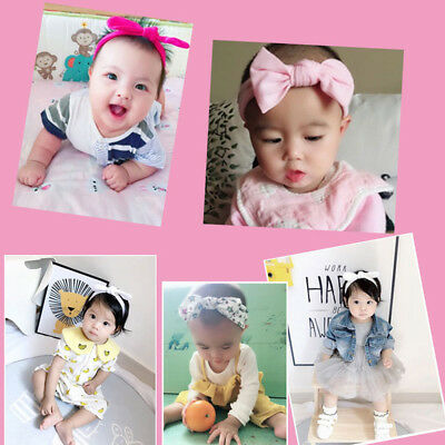 3Pcs Kids Floral Headband Girls Baby Elastic Bowknot Accessories Hairband Set US