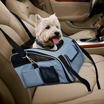 Grey Luxury Car Seat & Carrier Cat Small Dog Pet Puppy Travel Cage Booster