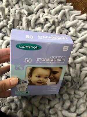 Lansinoh breastmilk storage bags X 50 Box Open But Bags Still Sealed