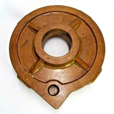 Cog Shaped Mahogany Wood Foundry Casting Pattern Industrial Sculpture Modern Art