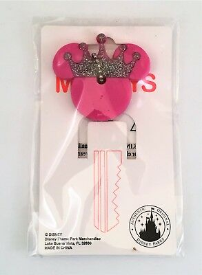 Disney Parks Princess Crown Minnie Mickey Mouse Ear Key Cover Keychain NEW