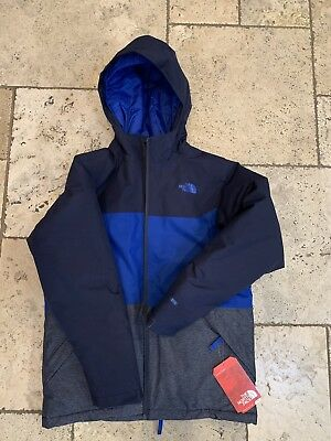 NWT BOYS NORTH FACE Brayden Jacket Cosmic Blue Large 14/16