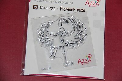 Scrapbooking - Azza - Micro Tampon Flament Rose