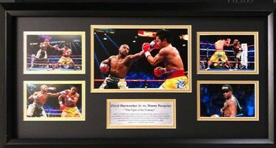 Floyd Mayweather Vs Manny Pacquio Framed Boxing Photo Display
