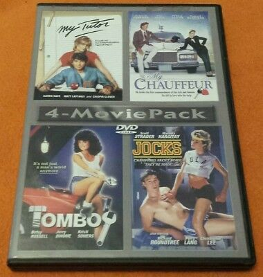 4-Movie Pack DVD Tomboy My Tutor My Chauffeur Jocks rare 2 Discs