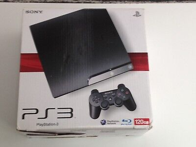 Ps3 Slim 120 Gb Console Cardboard Box Only Inserts & Instructions Ect Included