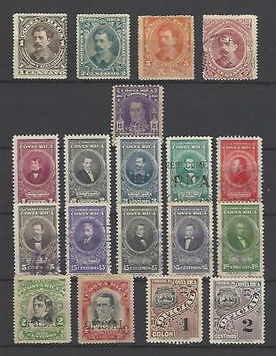 Costa Rica 1889-1947  Nice Mix of Postage, Airmail & Official Stamps  MH NG Used