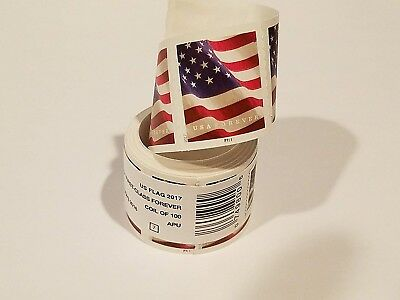 100 USPS Forever Postage Stamps ( 1 roll US FLAG ) *****Free shipping*****