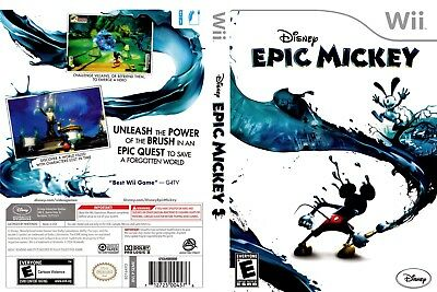 Nintendo Wii Replacement Game Case and Cover Epic Mickey, Disney
