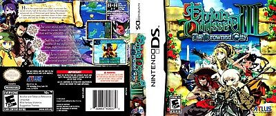 Nintendo DS Replacement Case and Cover Etrian Odyssey III: The Drowned City
