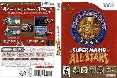 Nintendo Wii Replacement Game Case and Cover Super Mario All-Stars