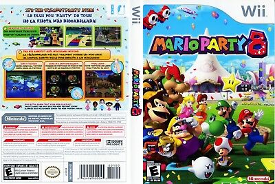 Nintendo Wii Replacement Game Case and Cover Mario Party 8