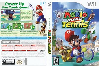 Nintendo Wii Replacement Game Case and Cover Mario Power Tennis