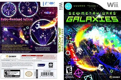 Nintendo Wii Replacement Game Case and Cover Geometry Wars Galaxies