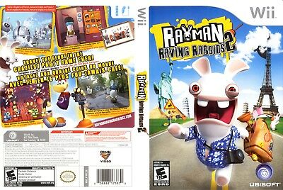 Nintendo Wii Replacement Game Case and Cover Rayman Raving Rabbids 2