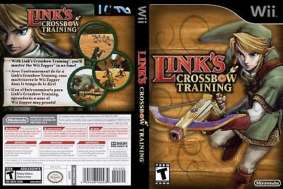 Nintendo Wii Replacement Game Case and Cover Link's Crossbow Training
