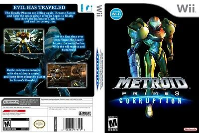 Nintendo Wii Replacement Game Case and Cover Metroid Prime 3: Corruption