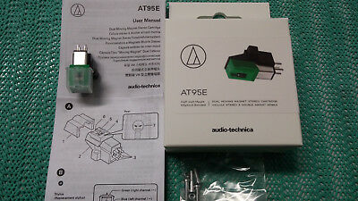 Original Audio Technica AT 95 E eliptisch MM Tonabnehmer Neu + OVP