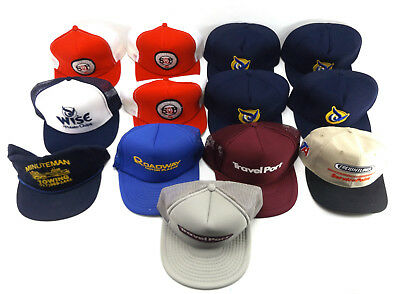 Trucker Hat Advertising LOT vtg Mesh Farmer snapback Cap Freightliner Roadway