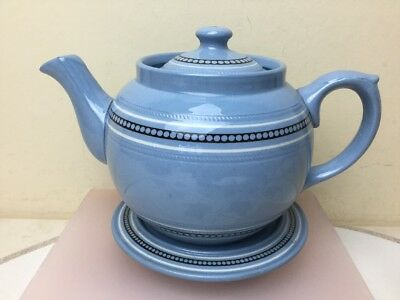 Dudson Brothers Hanley Vintage Teapot With Matching Stand Lovely Blue