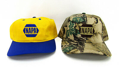 New NAPA Auto Parts Advertising Hat LOT Kawasaki Camo vtg Trucker snapback cap