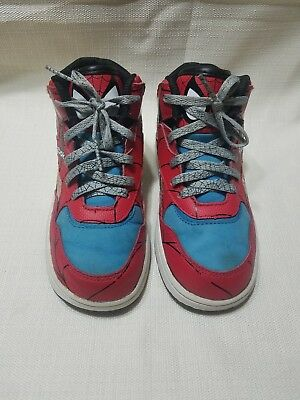 Reebok Reverse Jam Mid X Marvel Spider Man (Red) Toddler Shoes Size 9.5c 48994d3fc