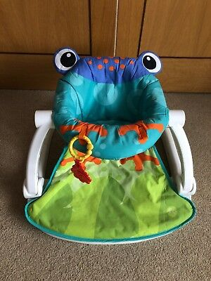 Fisher Price Frog Sit Me Up Baby Floor Seat Foldable Portable Travel Holiday