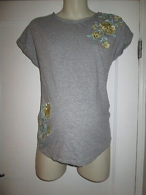 Lovely Size 14 Grey Dorothy Perkins Maternity Top See Pics!!