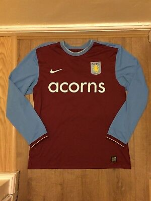 Nike Aston Villa 2009/10 Player Issue LS Shirt- XL