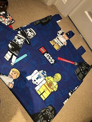 "Next Lego Star Wars Tab Top Curtains One Pair 53"" X 54"" Boys Bedroom"