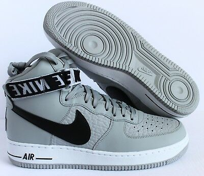 "Nike Air Force 1 High 07 ""nba Pack"" Flat Silver-Black-White Sz 9.5 [315121-044]"