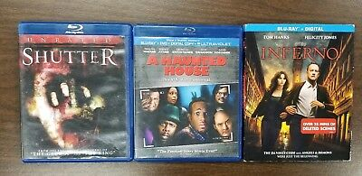 Lot of 3 Blu-ray Scary/ Horror Movies SHUTTER, A HAUNTED HOUSE, INFERNO