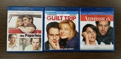 Lot of 3 Blu-ray Movies THE PAPERBOY, THE GUILT TRIP, ADMISSION