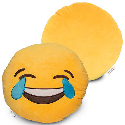 """Emoji Cute Pillow Tears of Happiness Face Large 14""""  Laughing Joy Plush & Funny"""