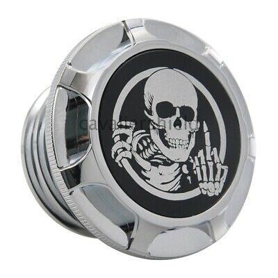 Motorcycle Chrome Skull Fuel Tank Gas Cap for Harley Sportster Touring Softail