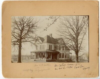 1891 Mounted Photo of Dr. N.B. Colton's Home in Bentonville, Arkansas