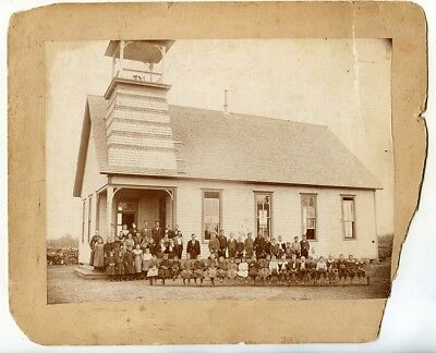 Large Early 1890s Mounted Photo of Chapel in Arkansas