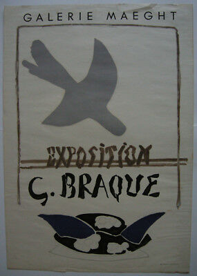 Georges Braque Exposition Galerie Maeght Plakat Affiche  Orig Lithografie 1959