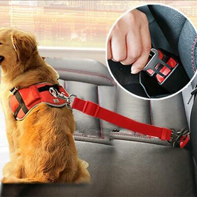 Vehicle Car Pet Dog Seat Belt Harness Lead Clip Safety Lever Auto Traction