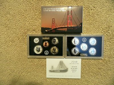 2018 Silver Reverse Proof 10 Coin Set