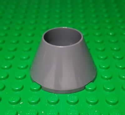 LEGO New Lot of 2 Black 4x4x2 Hollow Cone Brick Pieces
