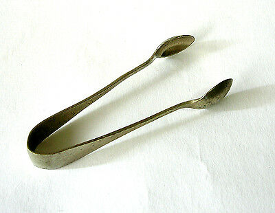 """Vintage """"EXPRESS STAINLESS"""" Sugar Tongs ~ NS ~ HENRY HOBSON & SONS (HH&S) ~ OK"""