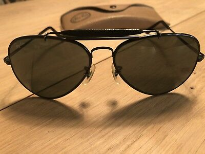 Vintage and Rare Bausch & Lomb Ray Bans - The General Aviators - Black