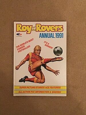 Vintage Roy Of The Rovers Annual 1991 Price Unclipped