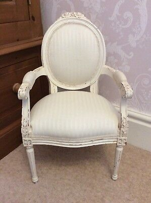 Gorgeous Child'S Cream French Louis Style Shabby Chic Chair