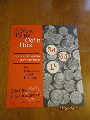 Telephone Box GPO Kiosk Original Number 30 Notice new type coin box