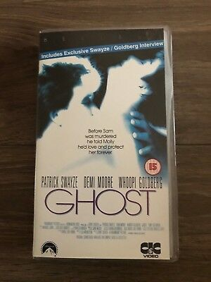 Ghost VHS Video Tape - Demi Moore, Patrick Swayze, Whoopi Goldberg
