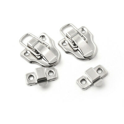 2Pcs Vintage Jewelry Wood Box Hasp Latch Buckle Clasp Furniture Hardware vn