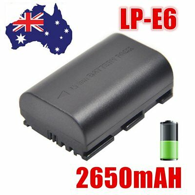 Camera Battery LP-E6 for Canon EOS 5D Mark III EOS 80D 70D 7D 60D 6D 2650mAh AU