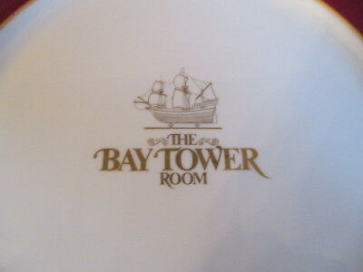 Vintage Shenango Dinner Plate Advertising The Bay Tower Restaurant Boston, MA